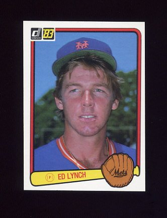 1983 Donruss Baseball #308 Ed Lynch - New York Mets