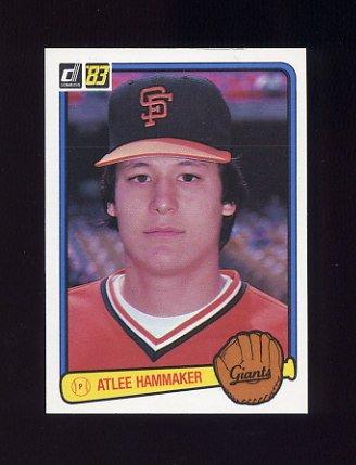 1983 Donruss Baseball #298 Atlee Hammaker - San Francisco Giants