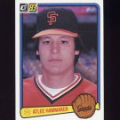 1983 Donruss Baseball #298 Atlee Hammaker - San Francisco Giants