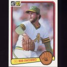 1983 Donruss Baseball #265 Bob Owchinko - Oakland A's