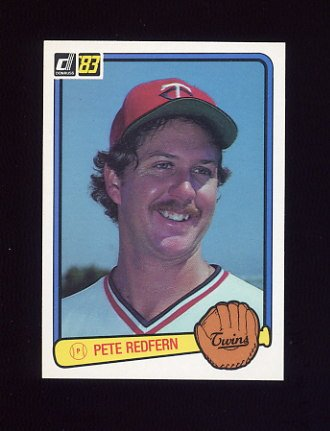 1983 Donruss Baseball #256 Pete Redfern - Minnesota Twins