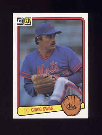 1983 Donruss Baseball #254 Craig Swan - New York Mets