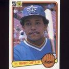 1983 Donruss Baseball #253 Manny Castillo - Seattle Mariners