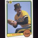 1983 Donruss Baseball #250 Rick Rhoden - Pittsburgh Pirates