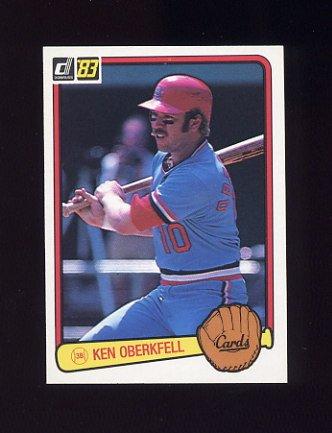 1983 Donruss Baseball #246 Ken Oberkfell - St. Louis Cardinals