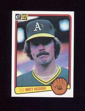 1983 Donruss Baseball #239 Matt Keough - Oakland A's