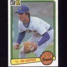 1983 Donruss Baseball #232 Jim Gantner - Milwaukee Brewers