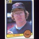 1983 Donruss Baseball #228 Ron Davis - Minnesota Twins