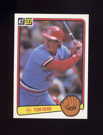 1983 Donruss Baseball #217 Tom Herr - St. Louis Cardinals