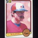 1983 Donruss Baseball #214 Tim Blackwell - Montreal Expos