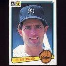 1983 Donruss Baseball #209 Roy Smalley - New York Yankees