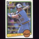 1983 Donruss Baseball #206 Charlie Moore - Milwaukee Brewers