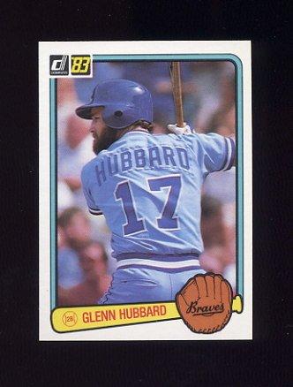 1983 Donruss Baseball #184 Glenn Hubbard - Atlanta Braves