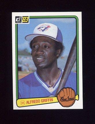 1983 Donruss Baseball #180 Alfredo Griffin - Toronto Blue Jays