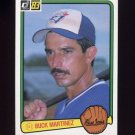 1983 Donruss Baseball #178 Buck Martinez - Toronto Blue Jays