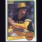 1983 Donruss Baseball #171 Don Robinson - Pittsburgh Pirates