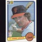 1983 Donruss Baseball #125 Johnnie LeMaster - San Francisco Giants