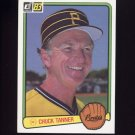 1983 Donruss Baseball #124 Chuck Tanner MG - Pittsburgh Pirates