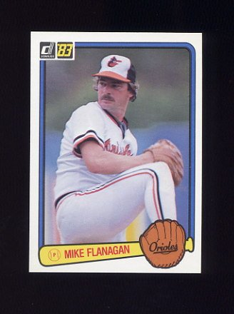 1983 Donruss Baseball #105 Mike Flanagan - Baltimore Orioles