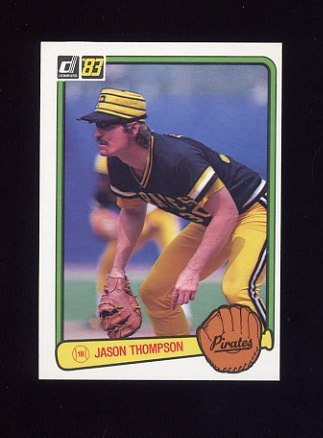 1983 Donruss Baseball #095 Jason Thompson - Pittsburgh Pirates