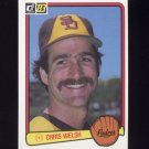 1983 Donruss Baseball #094 Chris Welsh - San Diego Padres