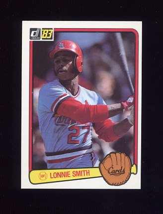 1983 Donruss Baseball #091 Lonnie Smith - St. Louis Cardinals