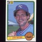 1983 Donruss Baseball #086 John Wathan - Kansas City Royals