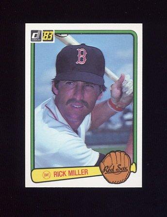 1983 Donruss Baseball #082 Rick Miller - Boston Red Sox