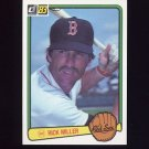 1983 Donruss Baseball #082 Rick Miller - Boston Red Sox