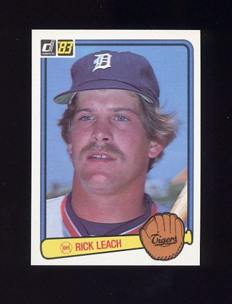1983 Donruss Baseball #081 Rick Leach - Detroit Tigers