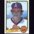 1983 Donruss Baseball #066 Geoff Zahn - California Angels