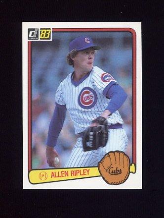 1983 Donruss Baseball #057 Allen Ripley - Chicago Cubs