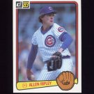 1983 Donruss Baseball #057 Allen Ripley - Chicago Cubs