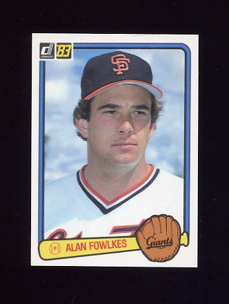 1983 Donruss Baseball #046 Alan Fowlkes - San Francisco Giants