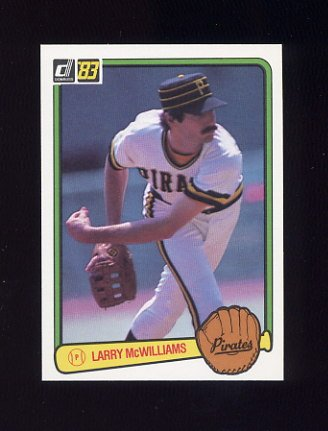 1983 Donruss Baseball #045 Larry McWilliams - Pittsburgh Pirates