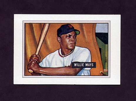 1989 Bowman Baseball Reprint Inserts #07 Willie Mays 51 - New York Giants ExMt