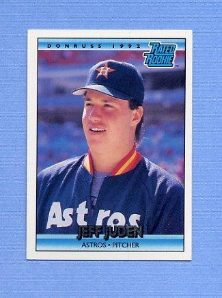 1992 Donruss Baseball #405 Jeff Juden RR - Houston Astros