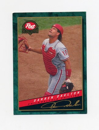 1994 Post Baseball #09 Darren Daulton - Philadelphia Phillies Ex
