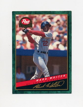 1994 Post Baseball #19 Mark Whiten - St. Louis Cardinals