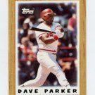 1987 Topps Mini Leaders Baseball #06 Dave Parker - Cincinnati Reds
