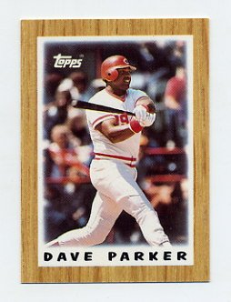 1987 Topps Mini Leaders Baseball #06 Dave Parker - Cincinnati Reds