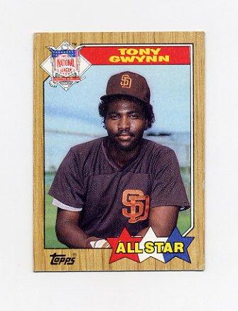 1987 Topps Baseball #599 Tony Gwynn AS - San Diego Padres VgEx