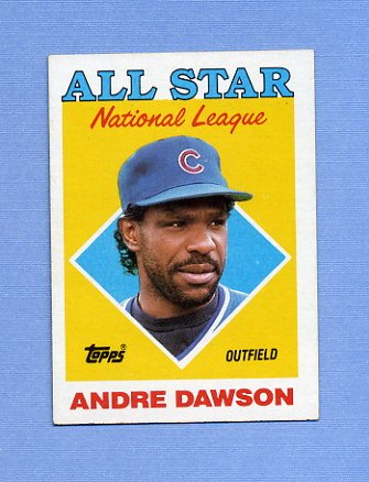 1988 Topps Baseball #401 Andre Dawson AS - Chicago Cubs