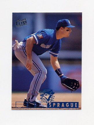 1995 Ultra Baseball #123 Ed Sprague - Toronto Blue Jays