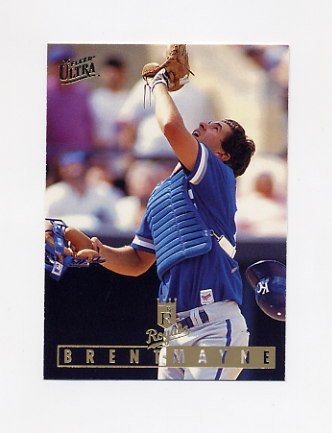 1995 Ultra Baseball #059 Brent Mayne - Kansas City Royals