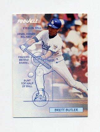 1992 Pinnacle Baseball #619 Brett Butler TECH - Los Angeles Dodgers