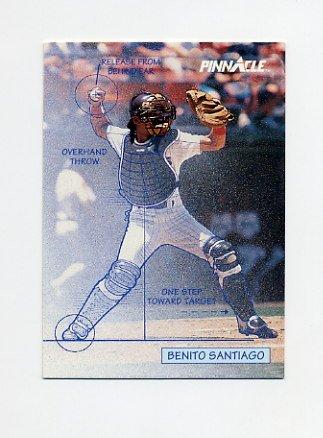 1992 Pinnacle Baseball #615 Benito Santiago TECH - San Diego Padres