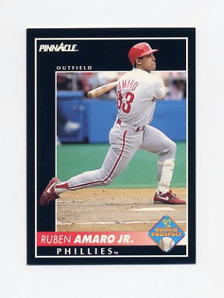 1992 Pinnacle Baseball #570 Ruben Amaro - Philadelphia Phillies