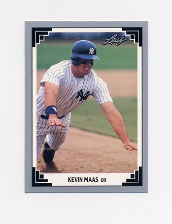 1991 Leaf Baseball #393 Kevin Maas - New York Yankees