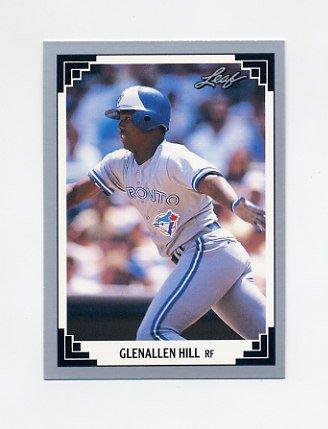 1991 Leaf Baseball #311 Glenallen Hill - Toronto Blue Jays